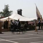 Haibach Dorffest Bilder, auf dem Schulhof vor der alten Schule