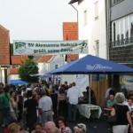 Haibach Dorffest Bilder - Ortskern, Partystimmung