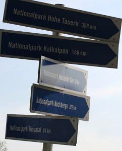 Hohe Tauern, Kalkalpen, Neusiedler See, Nockberge, Thayatal. Alle weit entfernt