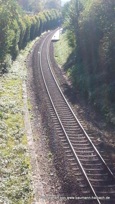 Bahnstrecke Aschaffenburg Miltenberg Blick von Schießhausbruecke