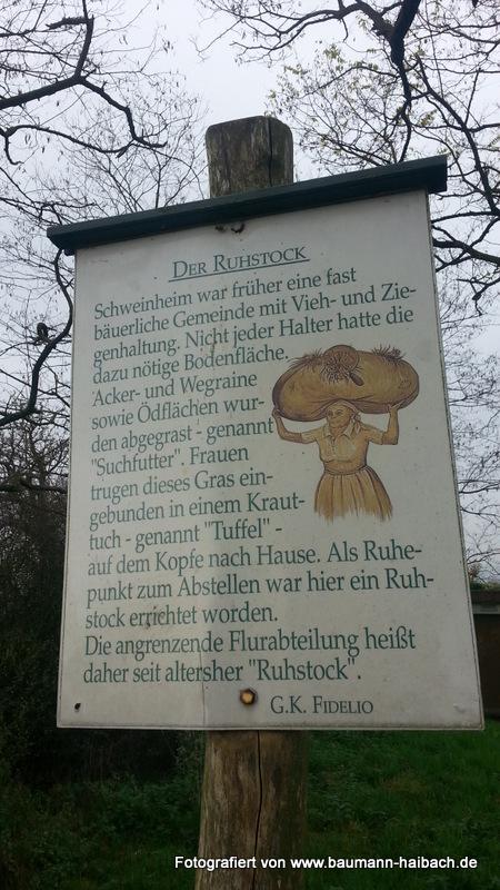 Ruhstock Schweinheim Beschreibung