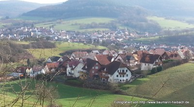 Blick auf Straßbessenbach - Rundweg am Klingerhof