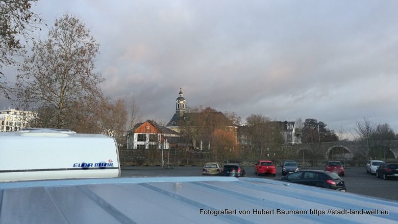 Besuch in Wetzlar / Hier: Wohnmobilstellplatz Lahninsel